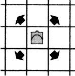 the queen's or couselor's move in shatranj (ancient chess)