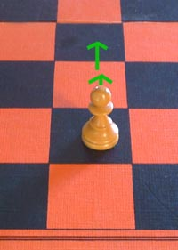 the move of the chess pawn
