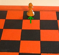 the promotion of the chess pawn