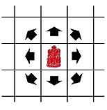 move of the king 'noyon' of shatar (Mongolian chess)