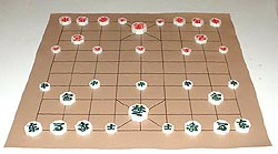 a janggi (Korean chess) set, all ready to play