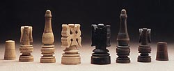 a famous, elaborate chess set dating from 15th century Italy