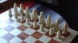 replica of the famous Lewis chessmen
